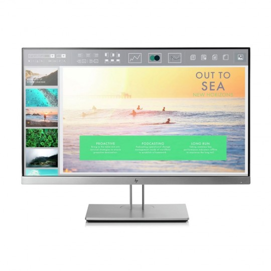 "HP EliteDisplay E233 23"" FHD IPS Monitor - front view"