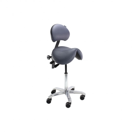 Score Jumper Balance Saddle Stool with Backrest