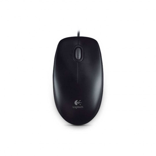 Logitech B100 Optical Mouse Black - birdseye view