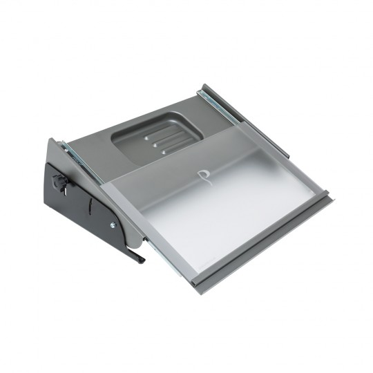 MultiRite Document Holder and Writing Slope (Medium, Silver/Black) - open view