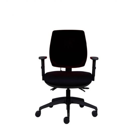 Positiv P-Sit Medium Back Ergonomic Chair - black - front view