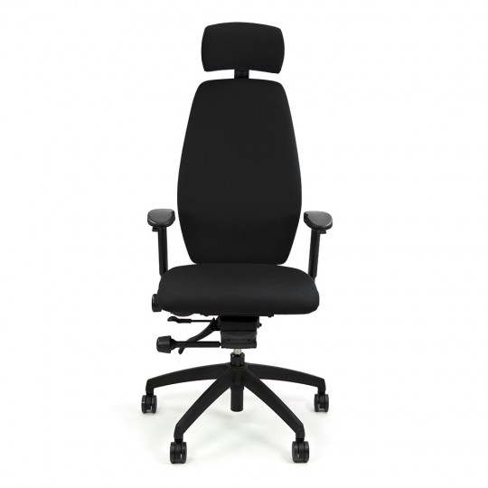 Positiv Plus High Back (including armrests/headrest) - Black