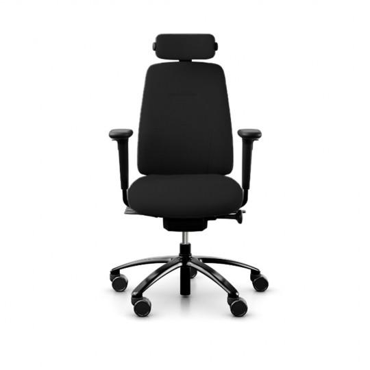 RH New Logic 200 Medium Back Ergonomic Office Chair - front view, with armrests & neckrest