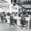 HAG SoFi 7510 Black Frame Mesh High Back Task Chair - lifestyle office shot