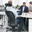 HAG SoFi 7510 Black Frame Mesh High Back Task Chair - lifestyle shot with headrest