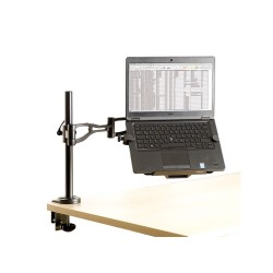 Professional Series™ Laptop Arm Accessory - front view with laptop
