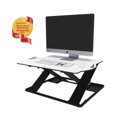 Opløft Sit-Stand Platform with monitor - angle view up