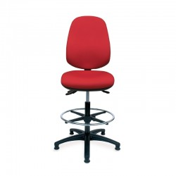 Positiv R600 High Back Draughtsman (w/ lumbar/polished base) - Royal Blue