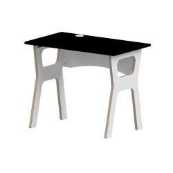 Slot Together Homeworker Desk - Black - side angle view