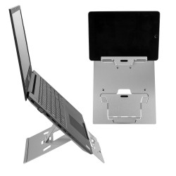 Vision Laptop/Tablet Stand - angle view with laptop