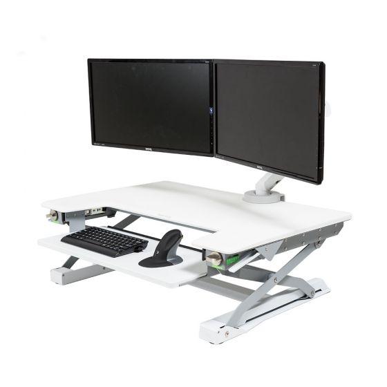 DeskRite 100 Sit-Stand Platform - White