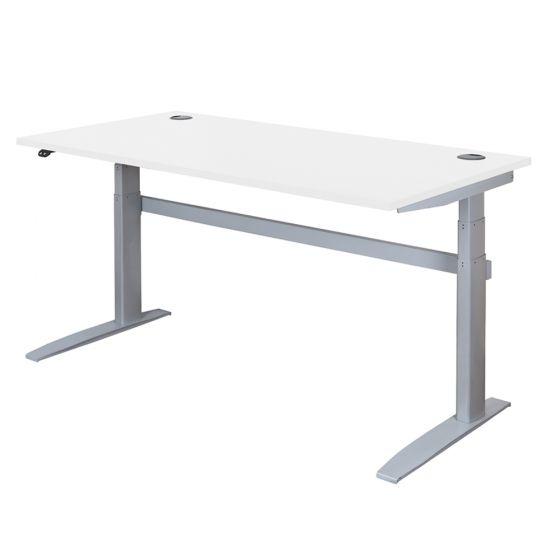 DeskRite 500 Electric Sit-Stand Desk - White