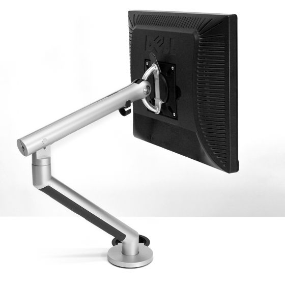 CBS Flo Single Monitor Arm - Silver