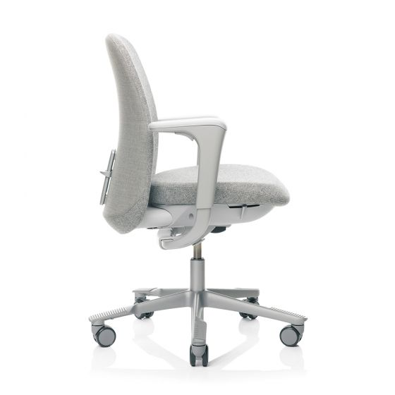 HAG SoFi 7220 Silver Frame Medium Back Task Chair - Light Grey