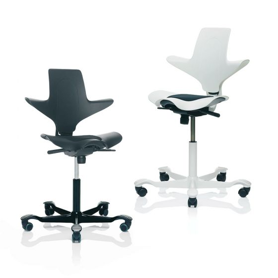 HÅG Capisco Puls 8010 Black & White Ergonomic Office Chair