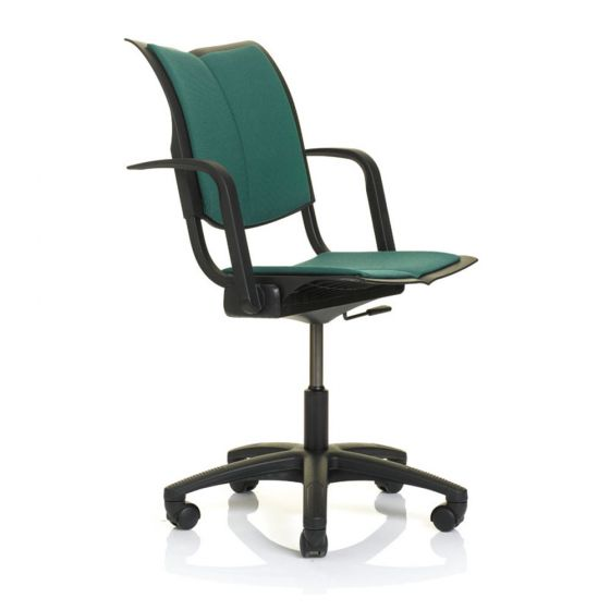 HAG Conventio Wing 9832 w/ 5 Star Footbase, Upholstered Back & Seat