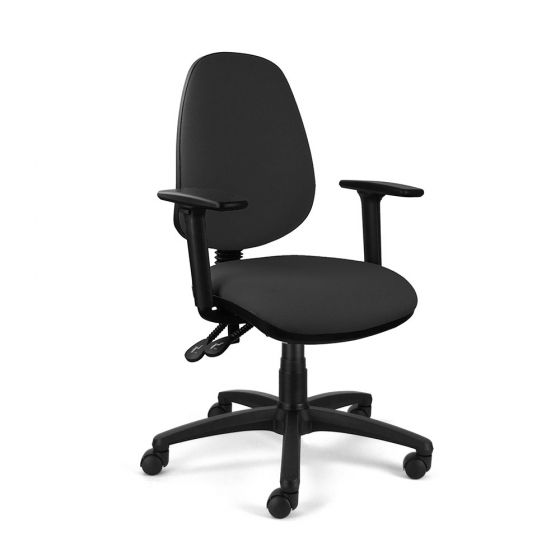 Homeworker Ergonomic Office Chair - side angle view, with armrests