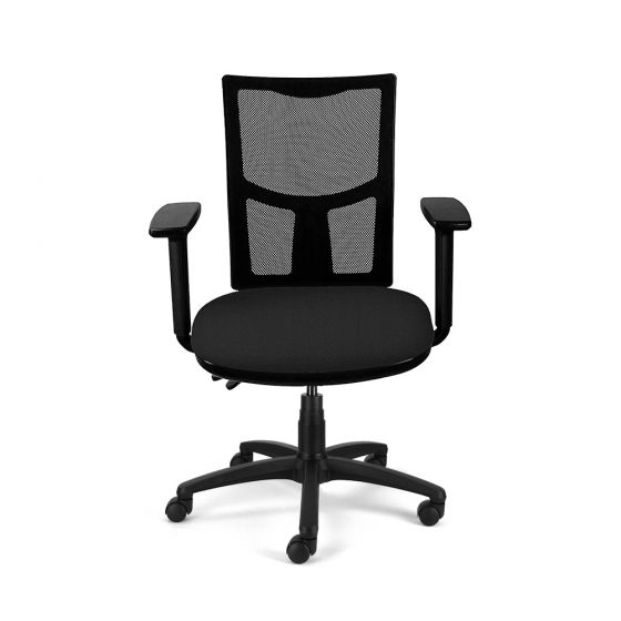 Homeworker Mesh Back Ergonomic Office Chair - front view, with armrests