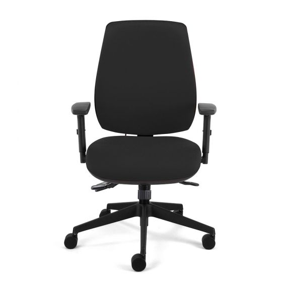 Homeworker Plus High Back Ergonomic Office Chair - front view, with armrests
