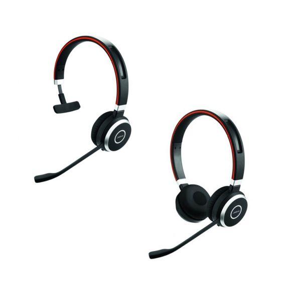Jabra Evolve 65 MS Mono NC Monaural and Jabra Evolve 65 MS Stereo NC Binaural Headsets