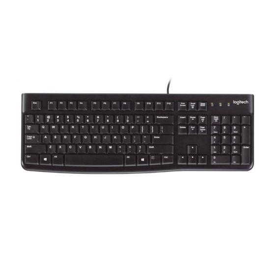 Logitech 'Soft Touch' K120 Keyboard - birdseye view