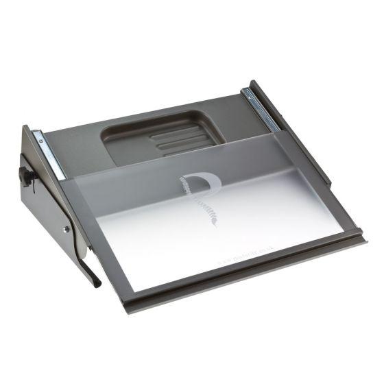 MultiRite Document Holder and Writing Slope (Medium, Silver/Black)