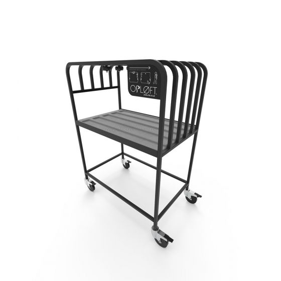 Opløft Storage Rack - front angle view