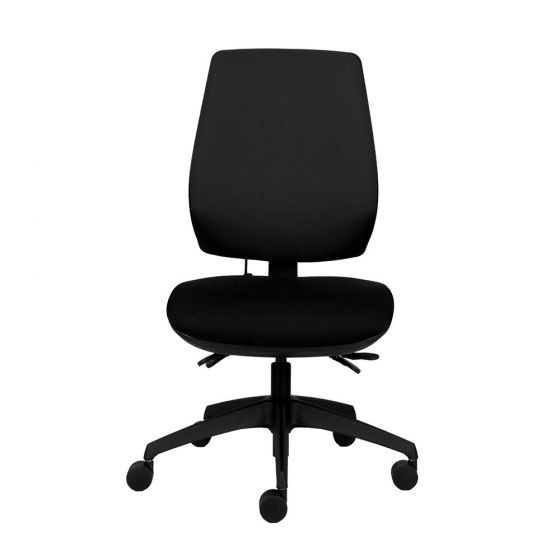 P-Sit High Back - Independent Seat and Back Angle Mechanism - Black - Front view
