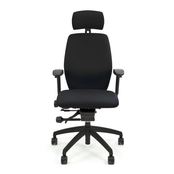 Positiv Plus Medium Back (including armrests/headrest) - Black