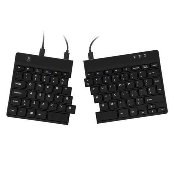 R-Go Split Ergonomic Keyboard - front view showing split