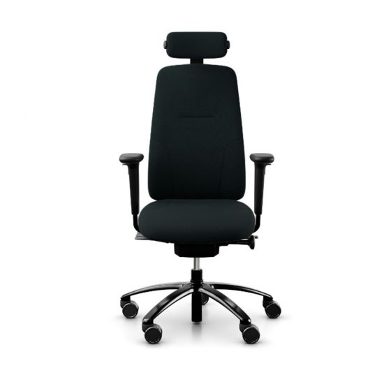 RH New Logic 220 High Back Ergonomic Office Chair - front view, with armrests & neckrest