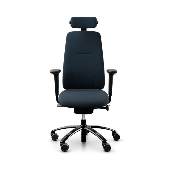RH New Logic 220 High Back Dark Blue Office Chair - front view
