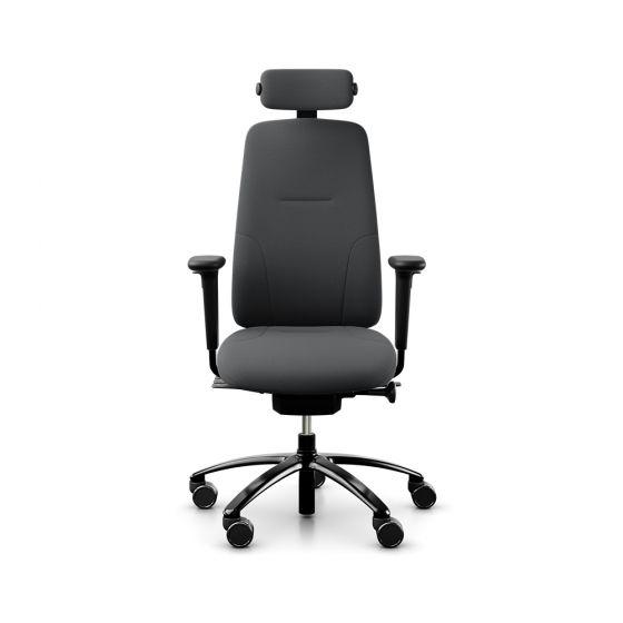 RH New Logic 220 High Back Dark Grey Office Chair - front view