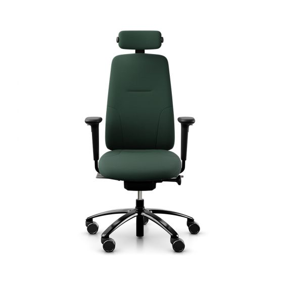 RH New Logic 220 High Back Forest Green Office Chair - front view