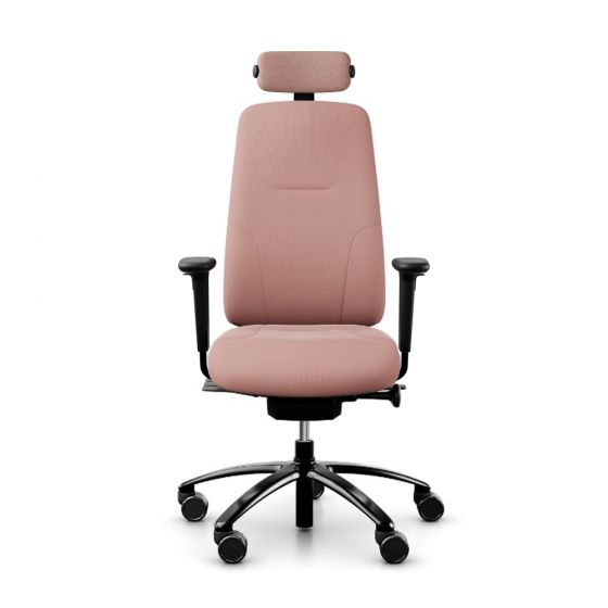 RH New Logic 220 High Back Salmon Pink Office Chair - front view
