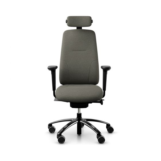 RH New Logic 220 High Back Stone Office Chair - front view