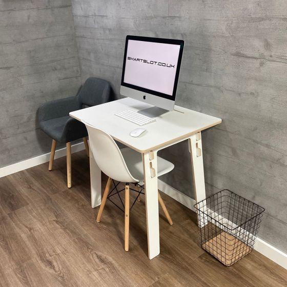 Smart Slot Basic Homeworker Desk - angle view