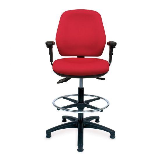 Positiv U600 Medium Back Draughtsman (w/ retractable armrests)