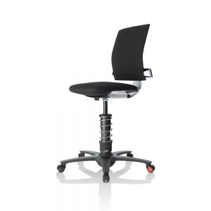 3Dee Active Office Chair - Black - front/side view