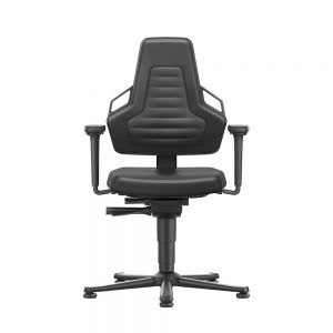 Bimos ESD Nexxit - Standard Height (450-600 mm), Permanent Contact Back, ESD Glides - front view, with armrests