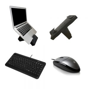Work On-The-Go Wired Kit: Box Office Mobile, A4 Tech Keyboard & V7 MV3000 Mouse