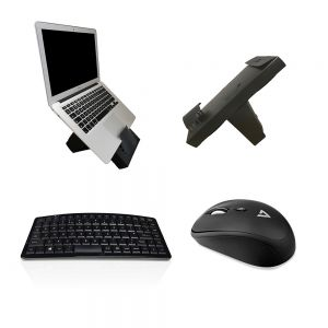 Work On-The-Go Wireless Kit: Box Office Mobile, Ark Keyboard & V7 MW100-1E Wireless Mouse