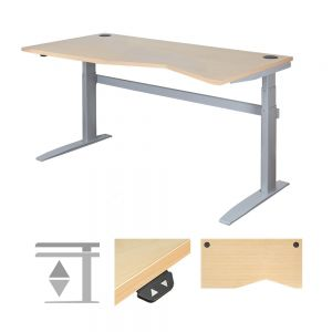 DeskRite 500 Electric Height Adjustable Desk - Left Stance
