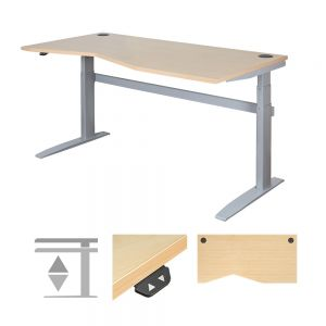 DeskRite 500 Electric Height Adjustable Desk - Right Stance
