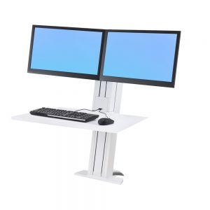 Ergotron WorkFit-SR Dual Monitor Sit-Stand Workstation