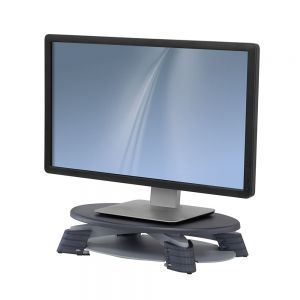 LCD Monitor Riser - side view with monitor