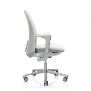 HAG SoFi 7320 Silver Frame High Back Task Chair - Light Grey