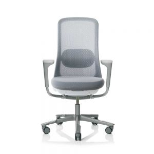 HAG SoFi 7500 Silver Frame Mesh High Back Task Chair - front view with arms