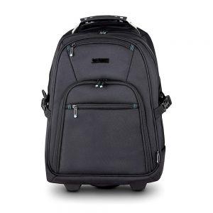 """Heavee 15.6"""" Laptop Backpack Trolley in Black - front view"""