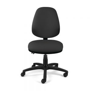 Homeworker Ergonomic Office Chair (high back/standard seat, without armrests) - Black